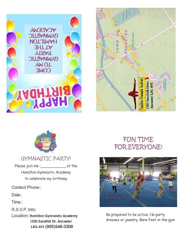 HGA Birthday Party Invitation
